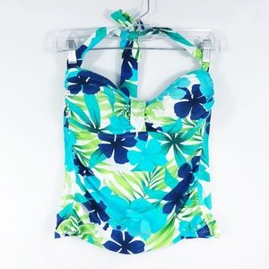 Relax Tommy Bahama | Blue & Green Floral Tankini